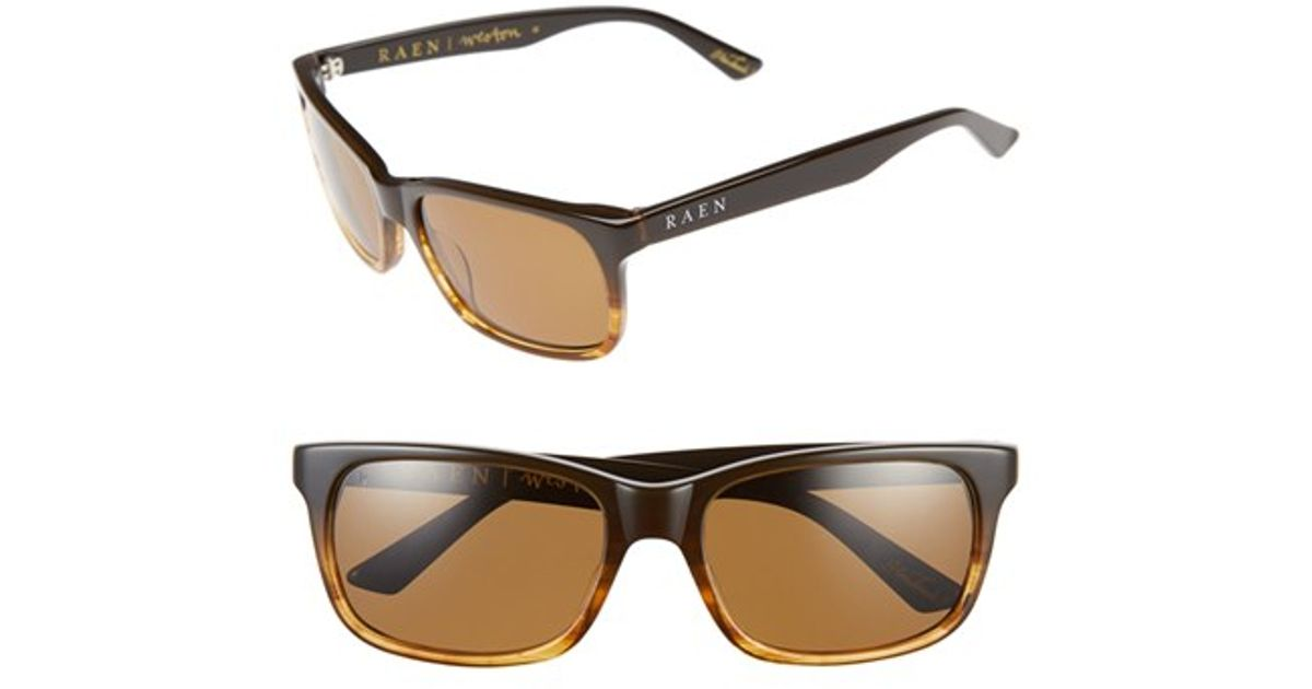 8e15ba339a7 Lyst - Raen  weston  58mm Polarized Sunglasses - Rye  Brown in Brown for Men