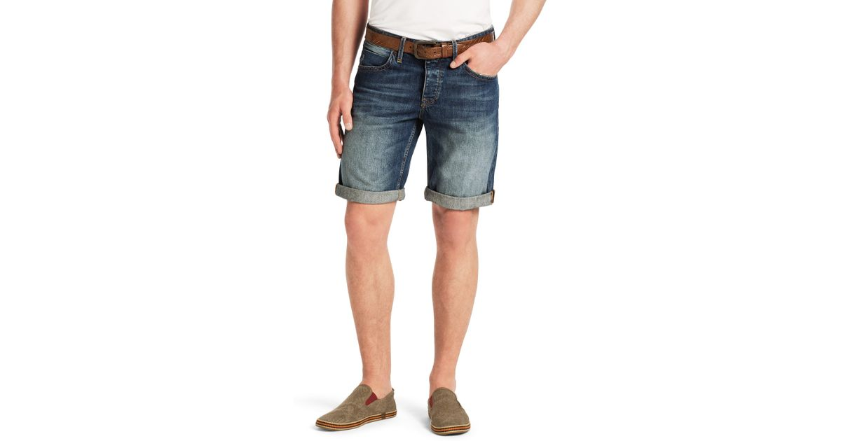 5b840435e25 Lyst - BOSS Orange 'Orange24 Milano' | Regular Fit, Cotton Denim Shorts in  Blue for Men