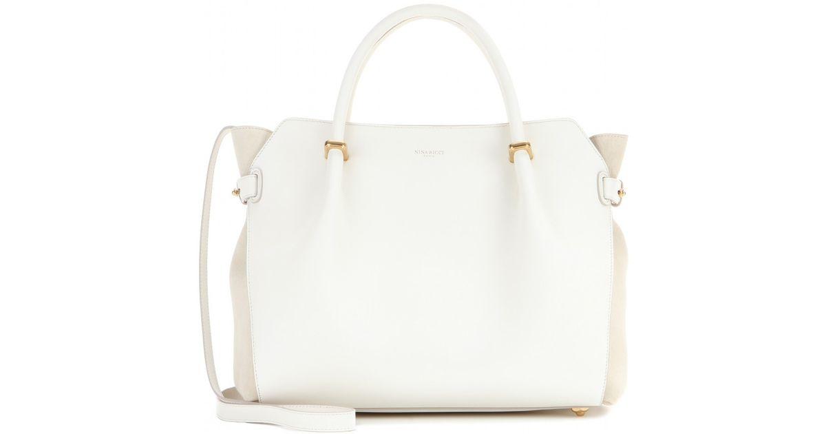 04aeb18fa1 Lyst - Nina Ricci Marché Small Leather Tote in White
