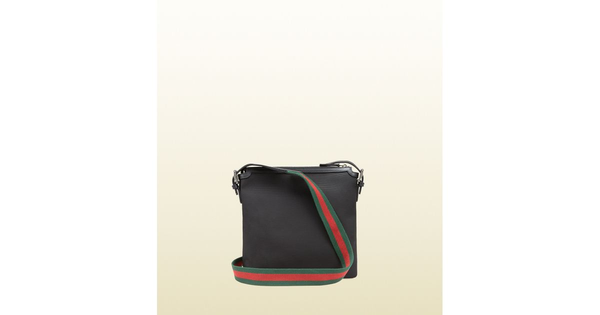 9a323ed96884 Gucci Techno Canvas Messenger Bag in Black for Men - Lyst