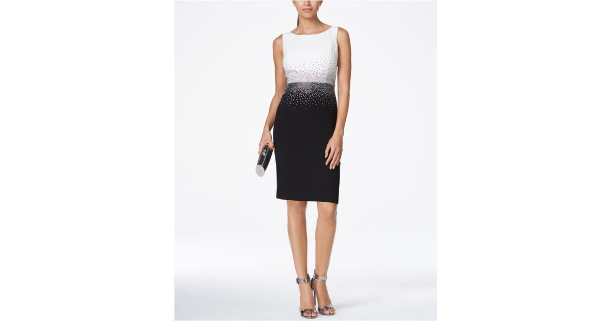 Rhinestone Sheath Dress