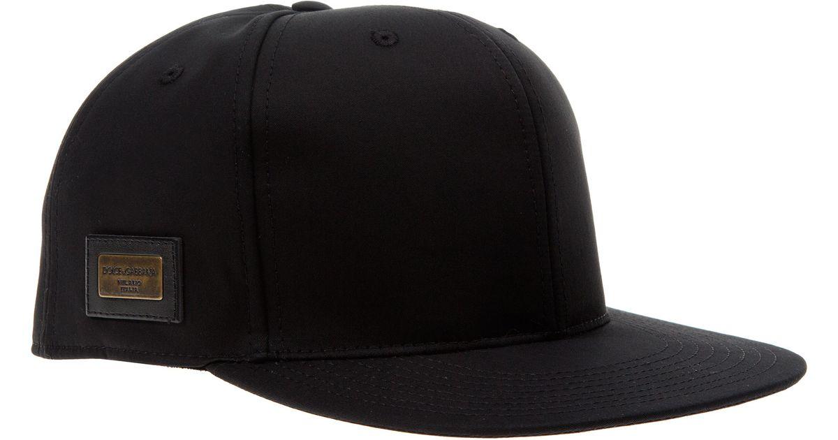 Dolce   Gabbana Black Flat-brimmed Hat in Black for Men - Lyst 135d46c0699