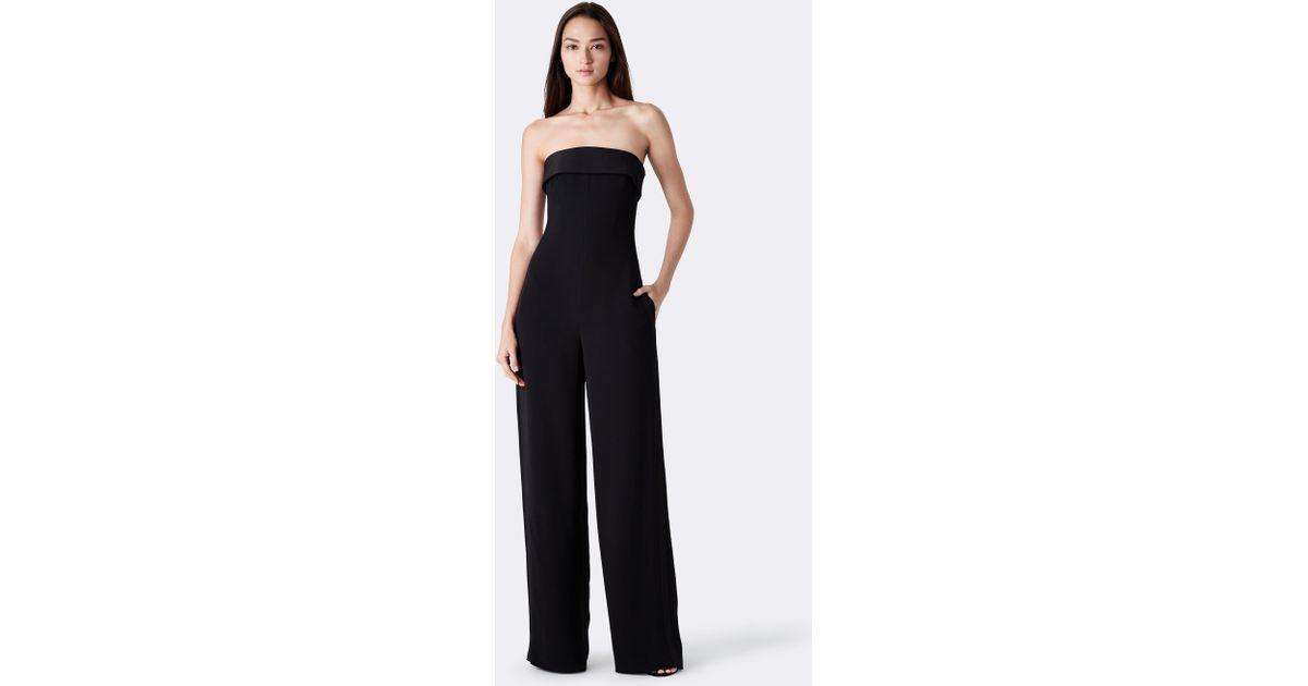 5fe7e67472f8 Ralph Lauren - Black Cate Strapless Silk Jumpsuit - Lyst