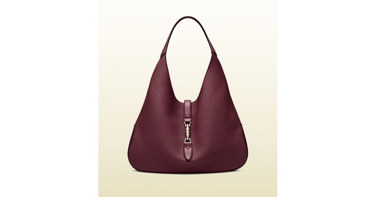 4e0d3ea4969f Lyst - Gucci Jackie Soft Leather Hobo in Purple