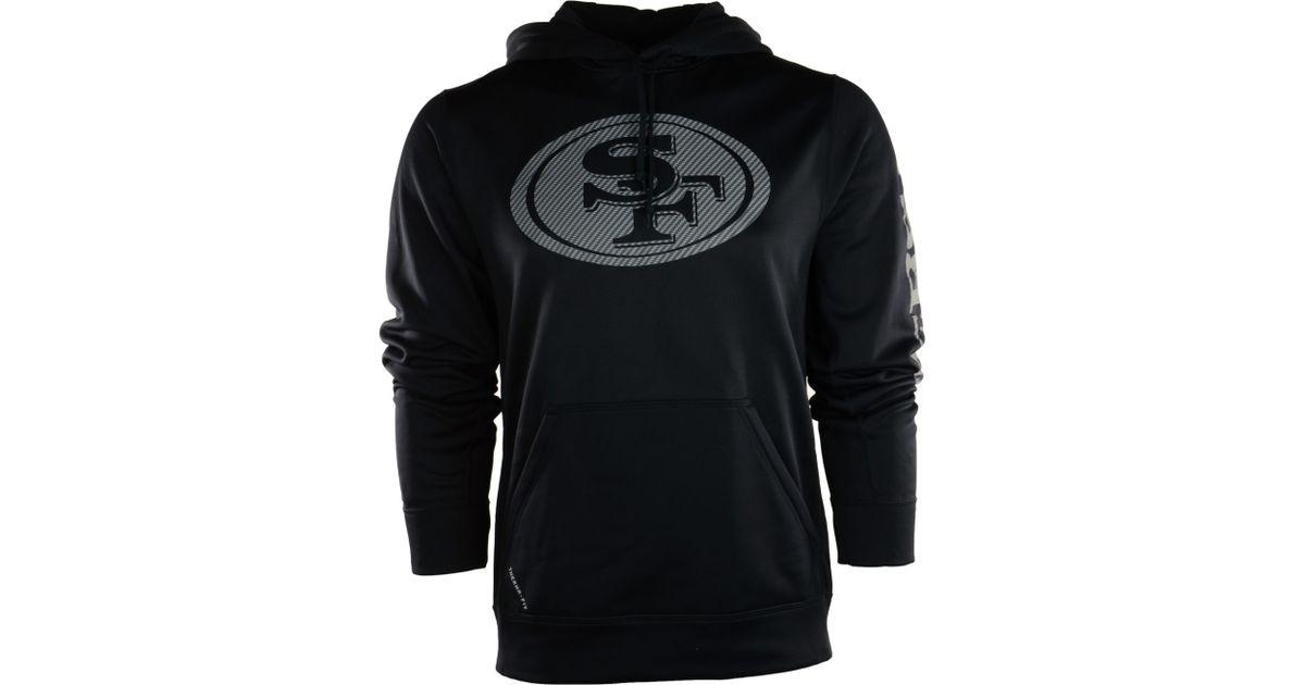 Lyst - Nike Mens San Francisco 49ers Carbon Ko Hoodie in Black for Men 8996559eec62