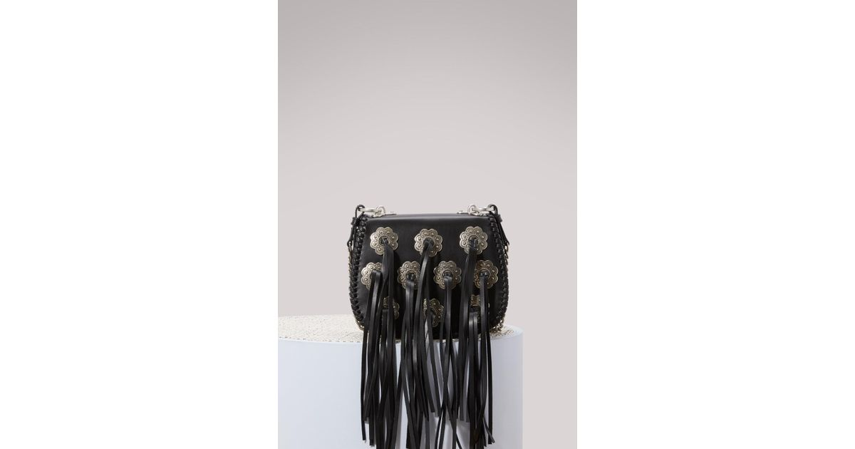 e0369ed9c31cac Prada Folk Hobo Crossbody Bag in Black - Lyst
