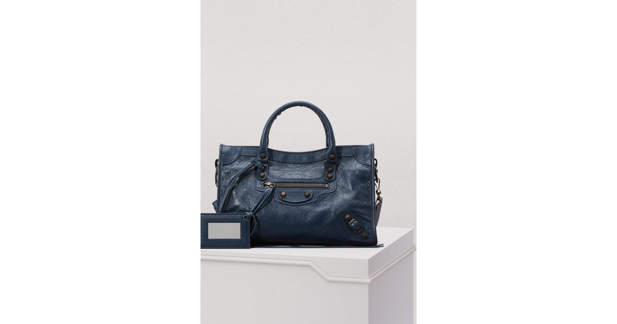 détaillant en ligne d48b4 eb9ee Balenciaga - Blue Petit sac à main City classique - Lyst