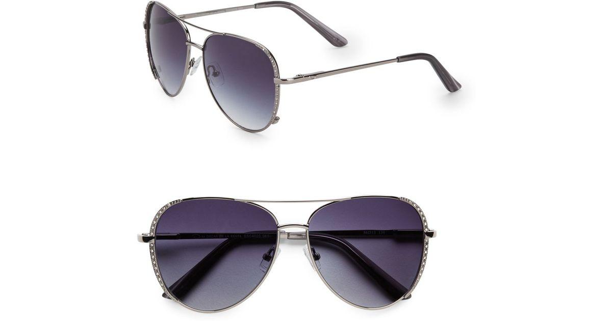 b43f3289b O By Oscar De La Renta Jeweled Metal Aviator Sunglasses in Metallic for Men  - Lyst