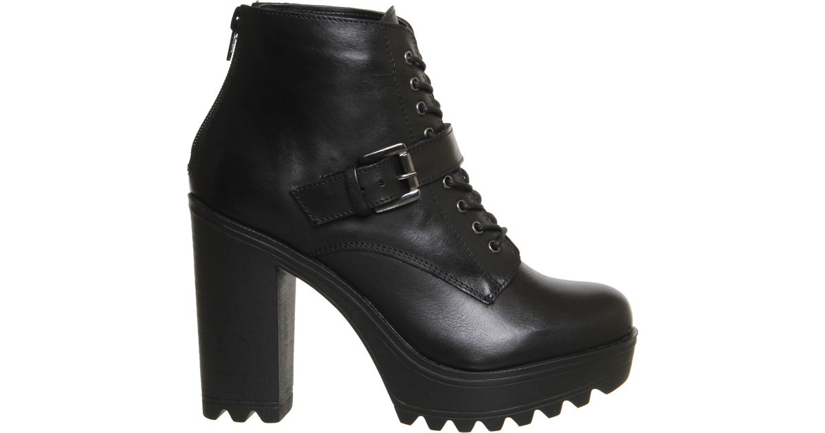 Office Candid Chunky Heel Harness Boots In Black Lyst