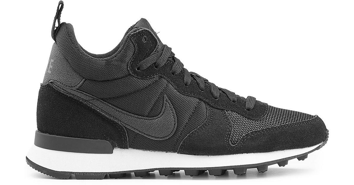 best service 7bc36 9b591 Lyst - Nike Internationalist Mid Sneakers With Leather - Black in Black