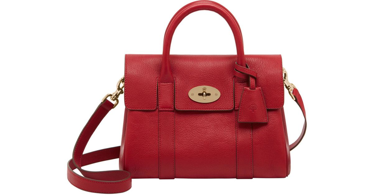 bca09d4f5b ... ireland lyst mulberry small bayswater satchel in red 736e7 06db4