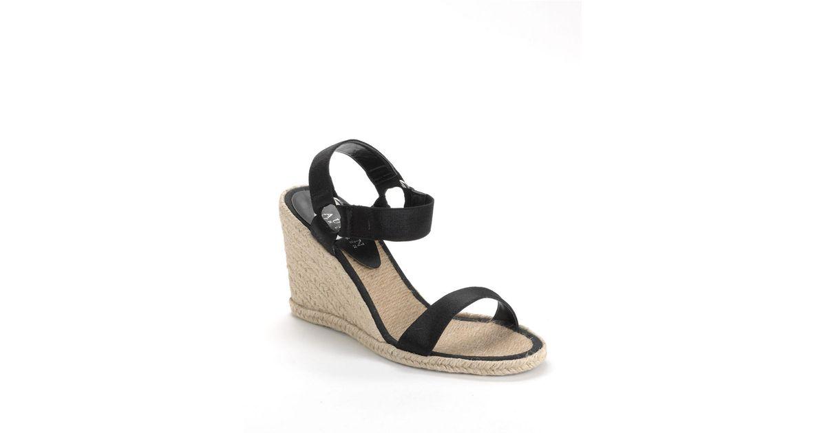 34a29eb5f7e1 Lyst - Lauren By Ralph Lauren Indigo Banded Espadrille Wedge Sandals in  Black