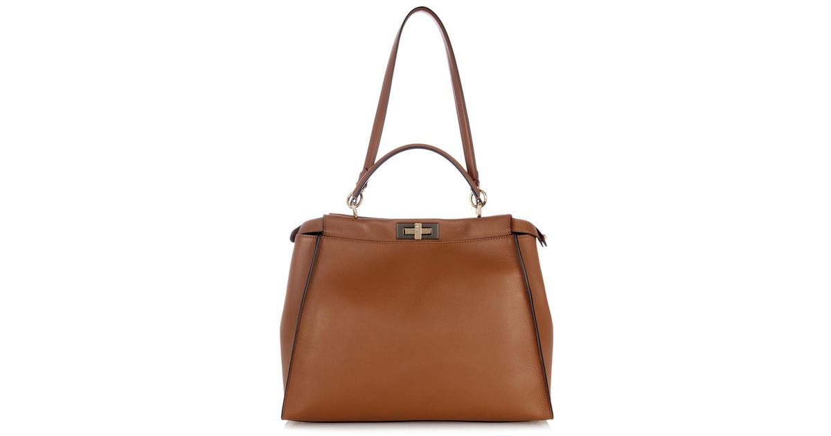... leather tote in brown ce620 8d9e7 greece fendi bag id  53167forsaleayybags 3551a c7113 official store fendi picasso face beach  tote bag totes 504974159 ... 2a6126b30511e