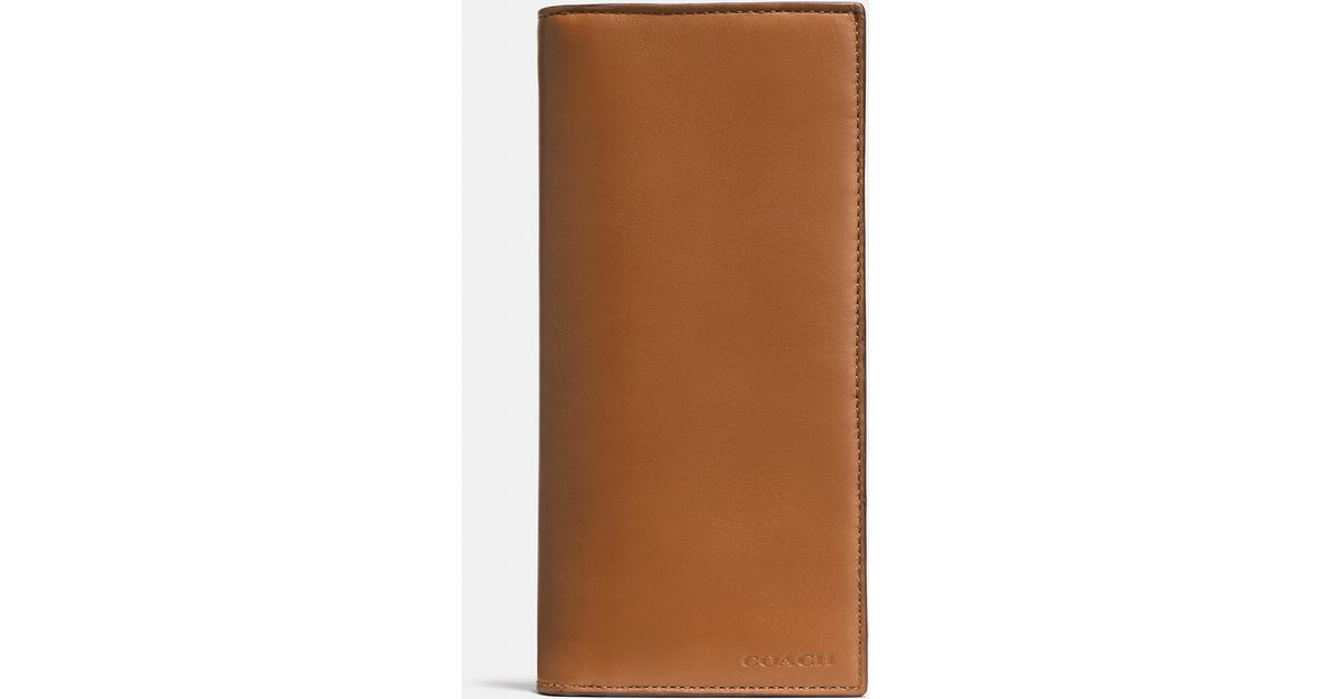 2a38948748eb ... cheap lyst coach breast pocket wallet in sport calf leather in brown  for men bb64b f6b8f