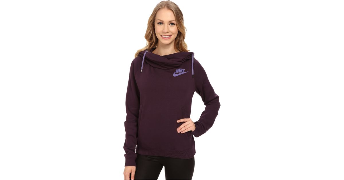 ccc82e43a686 Lyst - Nike Rally Funnel Neck Hoodie in Purple