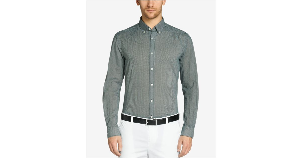 Lyst Boss Boss Slim Fit Cotton Button Down Shirt In Gray