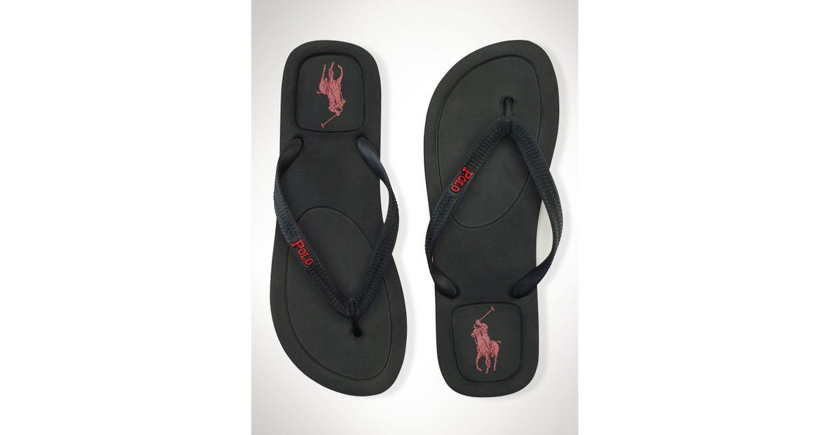 c7952007749a Lyst - Polo Ralph Lauren Halesowen Flip-Flop in Black for Men