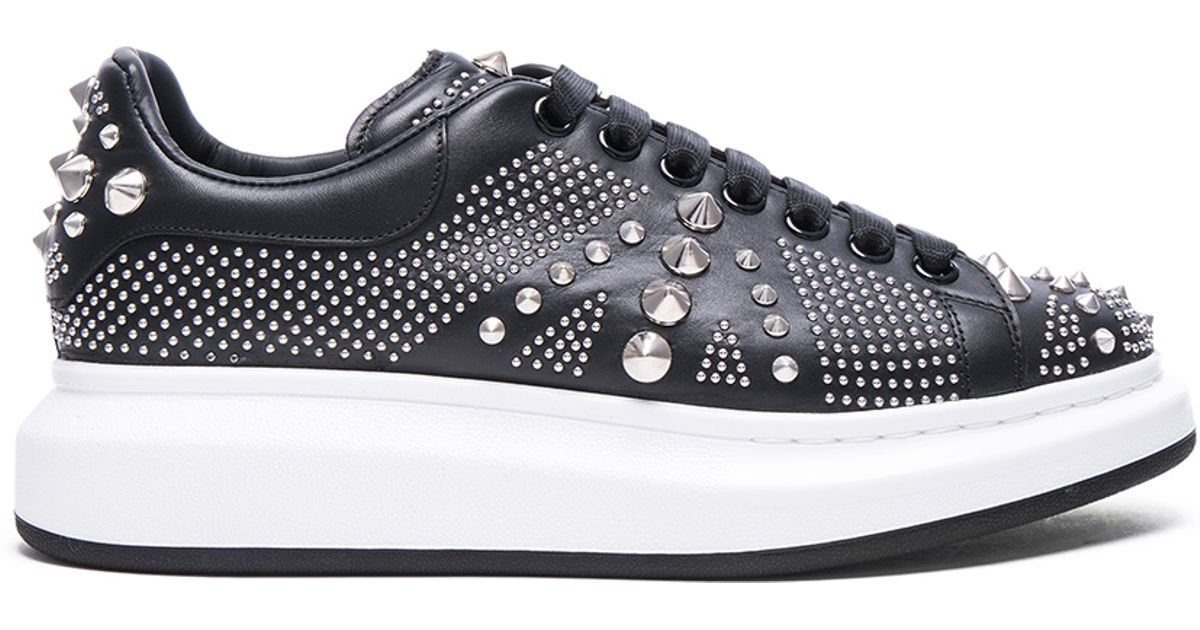 Studded leather sneakers Alexander McQueen 6QTcR
