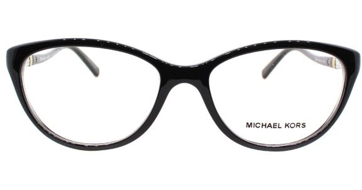 Lyst - Michael Kors Portillo Mk 4021b 3045 Black Cat-eye Plastic ...