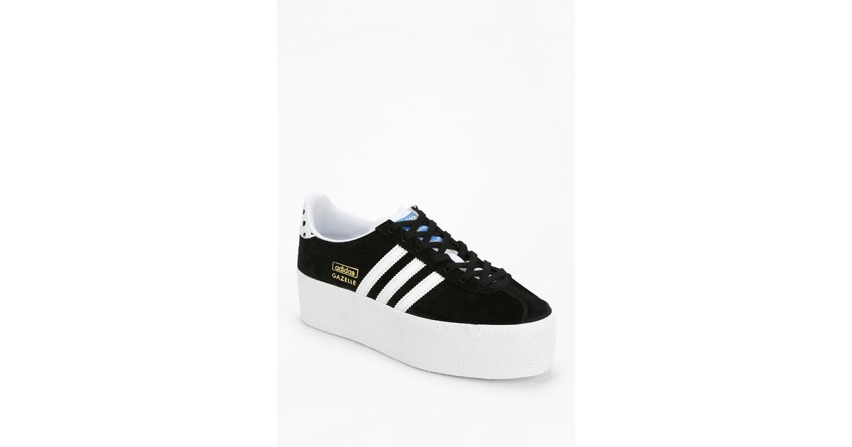 f781a437f61 Lyst - adidas Gazelle Platform Sneaker in Black