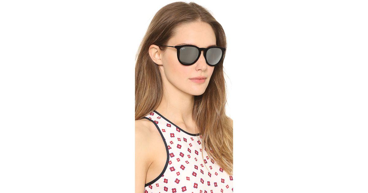 8b1bdc65f2 ... official store ray ban erika velvet sunglasses violet in black lyst  35e92 571af