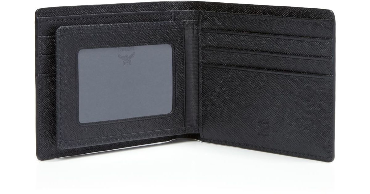 8ddea177315e MCM Claus Bi-fold Wallet in Blue for Men - Lyst