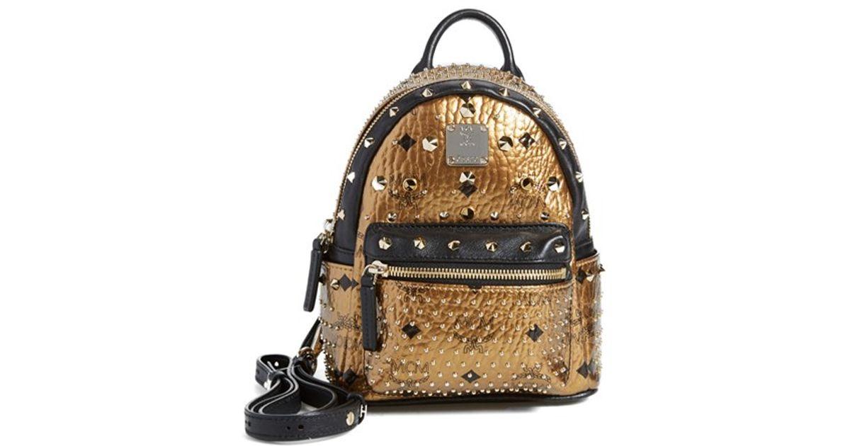Lyst - MCM  x Mini Bebe Boo  Backpack - Metallic in Metallic 99dc48dc84fb7