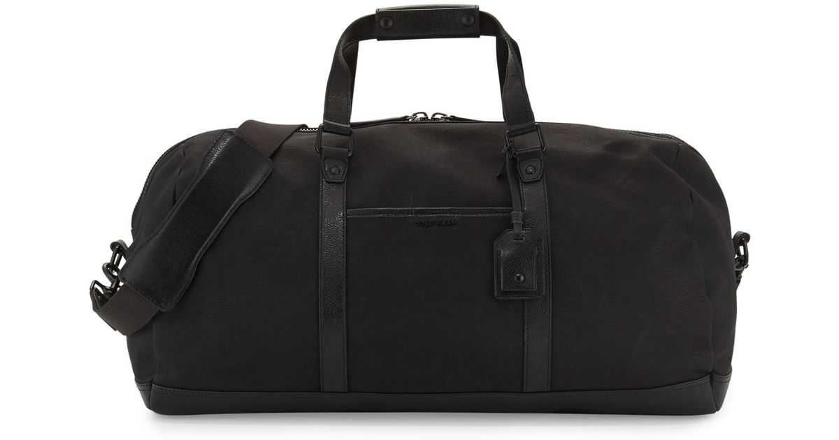 Lyst - Cole Haan Leather-trim Canvas Duffle Bag in Black for Men d4724b20b5c41