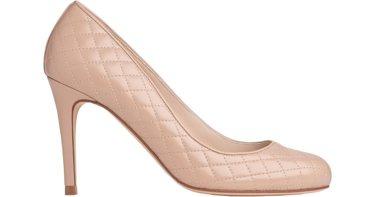 10dfddaa5d L.K.Bennett Stila Quilted Court Shoes in Natural - Lyst