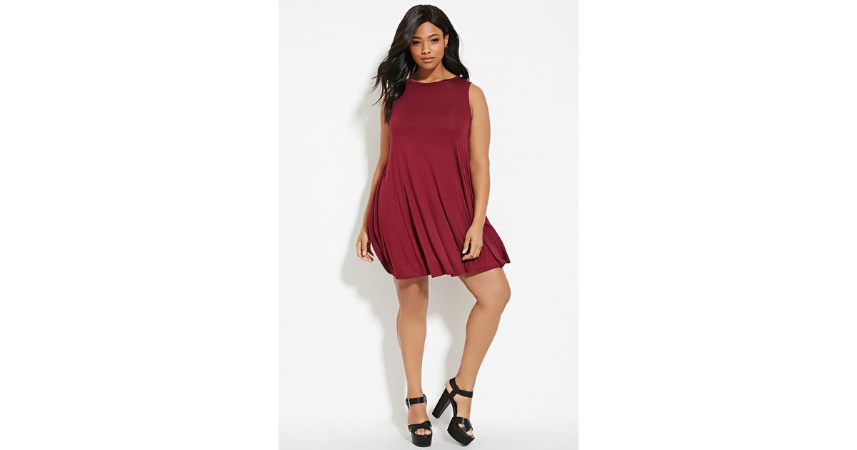 Forever 21 Plus Size Trapeze Dress in Purple - Lyst