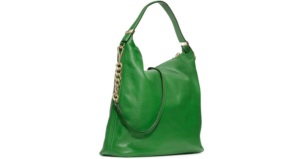 a7309966884a MICHAEL Michael Kors Large Weston Pebbled Shoulder Bag in Green - Lyst