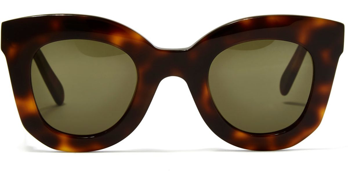 56fa03ee197 Lyst - Céline Havana Brown Marta Small Sunglasses in Brown