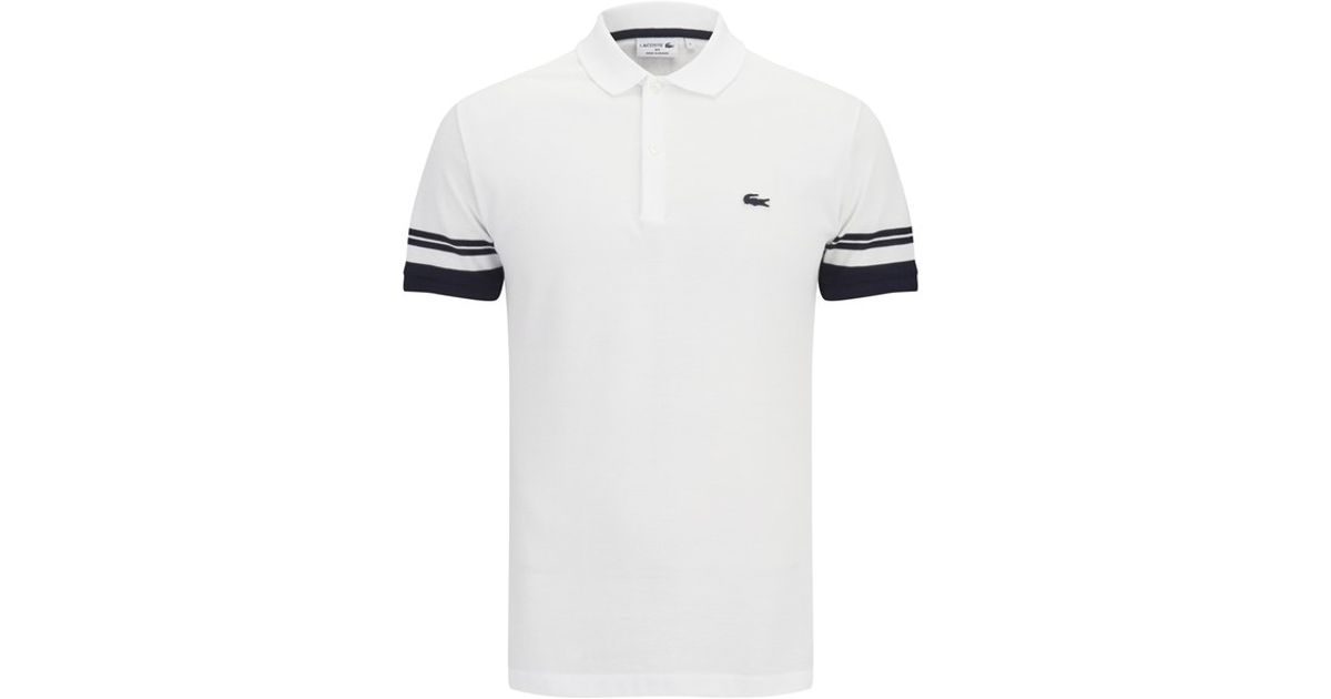efbcfee627 Lacoste Men'S 'Made In France' Polo Shirt in White for Men - Lyst