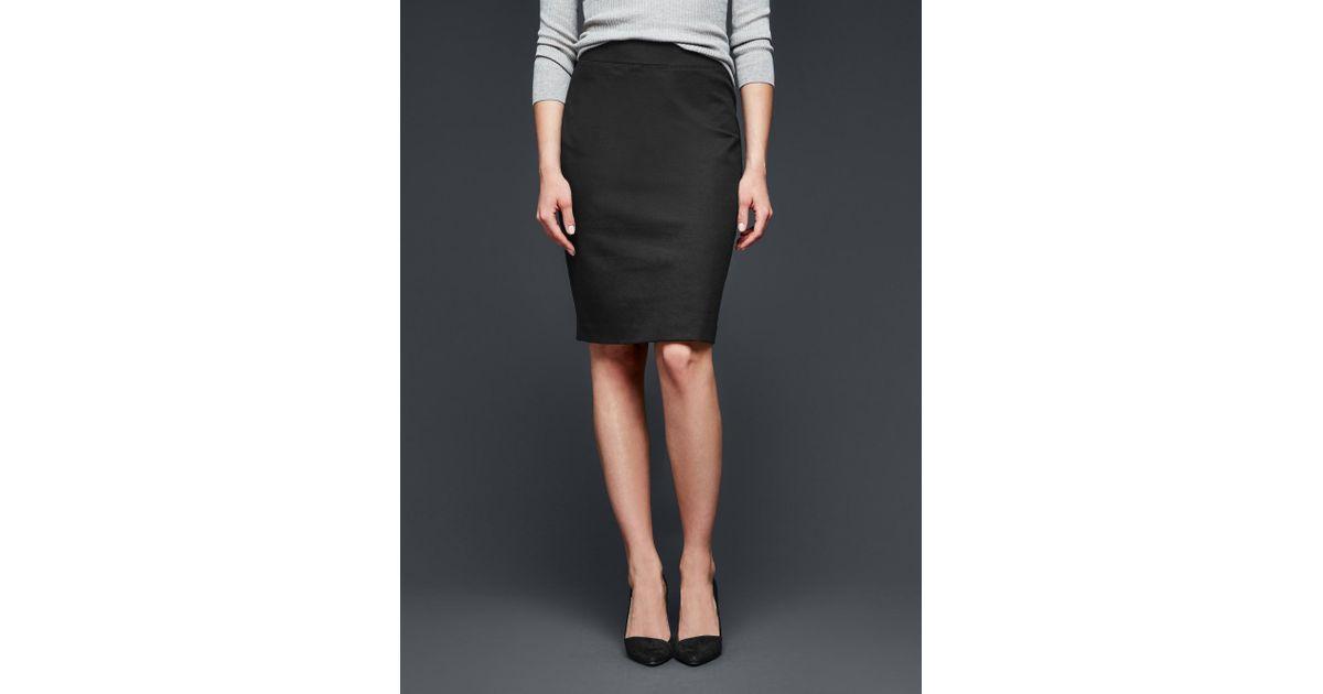 9e72ce95ed Gap Ponte Pencil Skirt in Black - Lyst