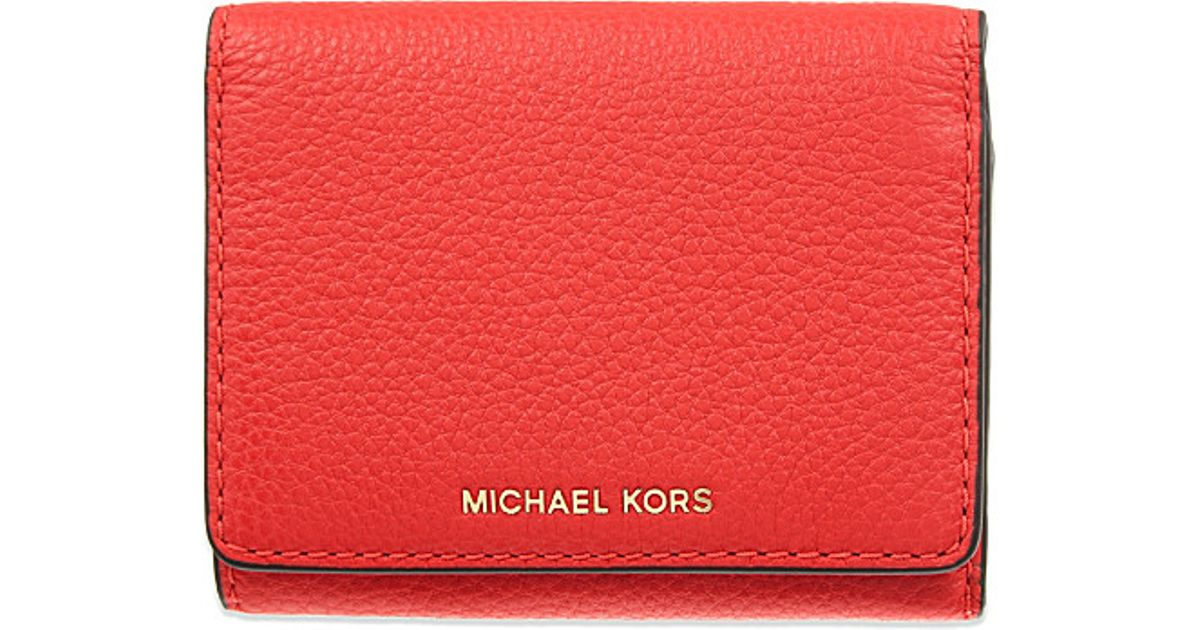 ef706f46c169 MICHAEL Michael Kors Liane Small Grained Leather Wallet in Red - Lyst