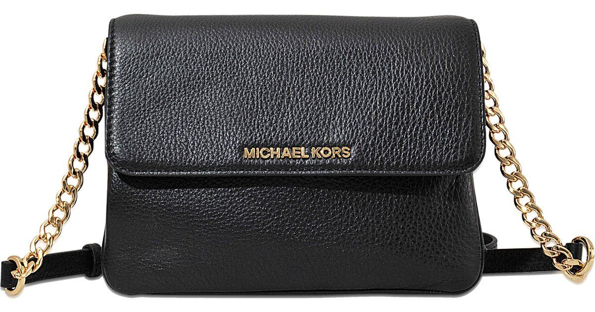 1e7ff98e9bef Michael Kors Bedford Black Double Gusset Crossbody Bag | Stanford ...