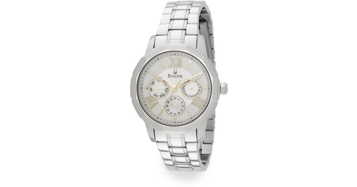 ee750632e Bulova Sport Chronograph Stainless Steel Bracelet Watch in Metallic - Lyst