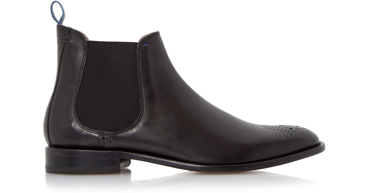 oliver sweeney silsden brogue toe chelsea boots in black for men. Black Bedroom Furniture Sets. Home Design Ideas