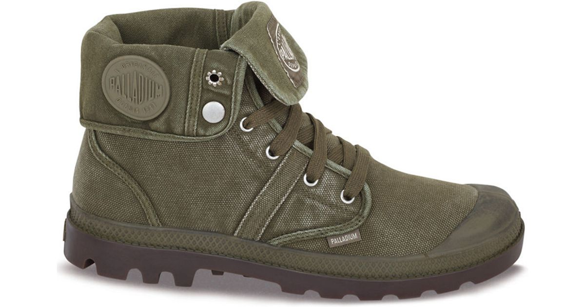 Palladium Pallabrouse Baggy Canvas Ankle Boots in Green for Men - Lyst c946284f43