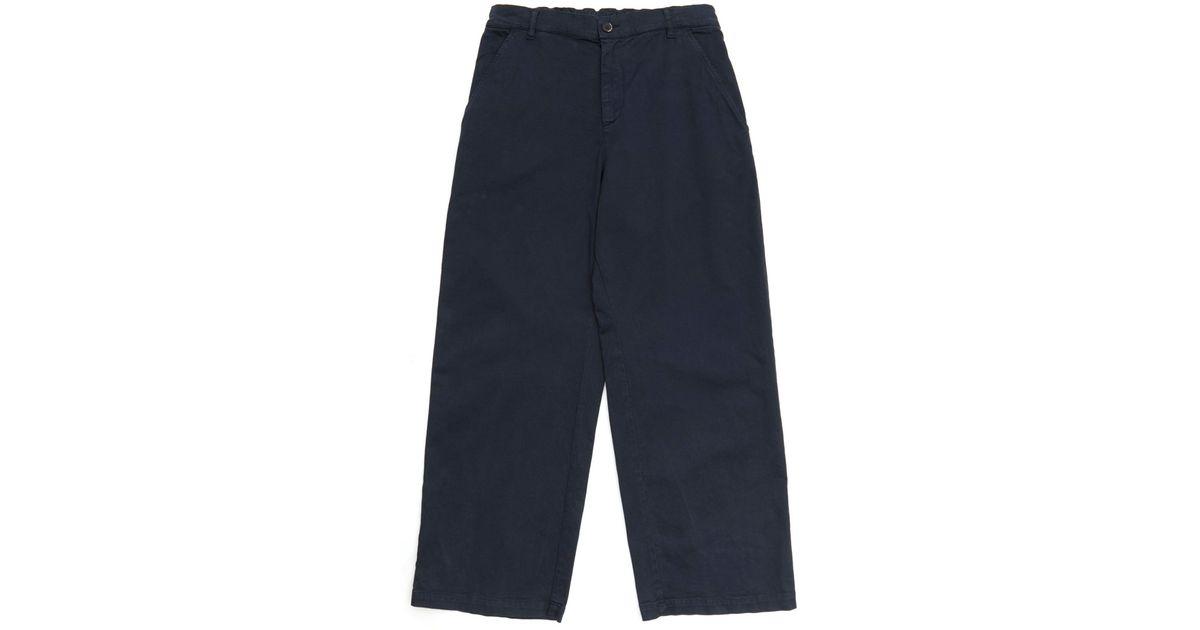 wide leg trousers - Blue Barena 89Hz1mLY7