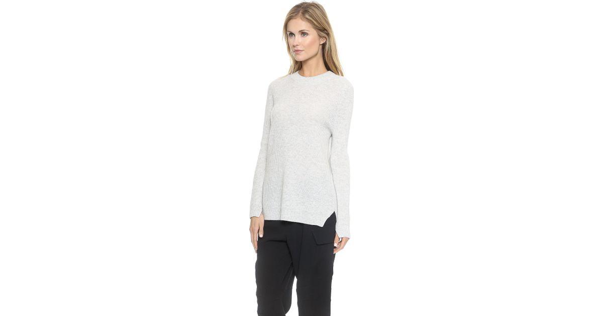 Rag & bone Valentina Cashmere Tunic Sweater - Dove in White | Lyst