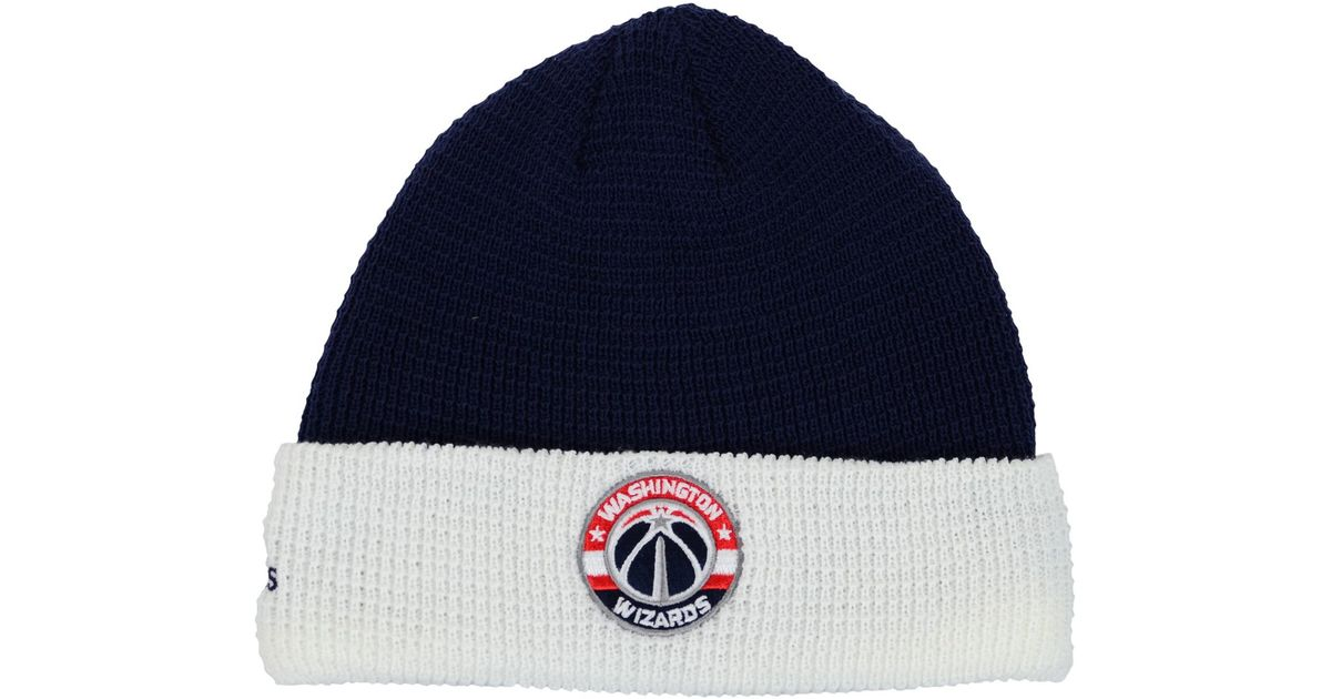 8ec7b6f6e Lyst - adidas Washington Wizards Authentic Cuffed Knit Hat in Blue for Men