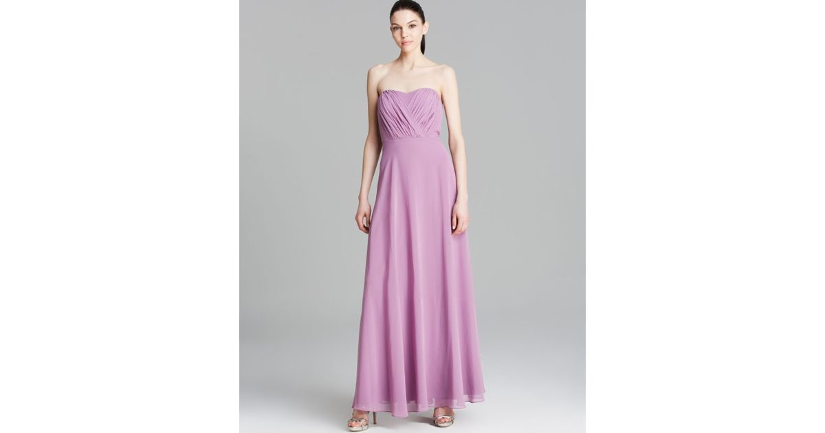 Lyst - Vera Wang Gown - Sweetheart Strapless in Purple