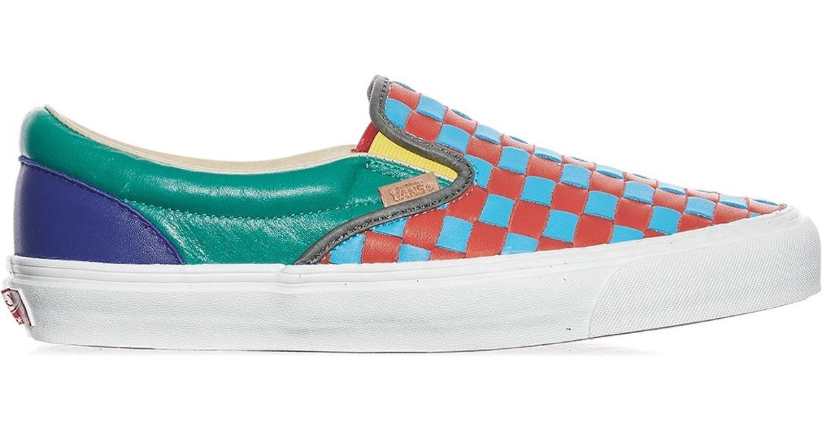 0f8926d3914d79 Lyst - Vans Og Classic Slip-on Lx 50th Checkerboard Anniversary Sneakers  for Men