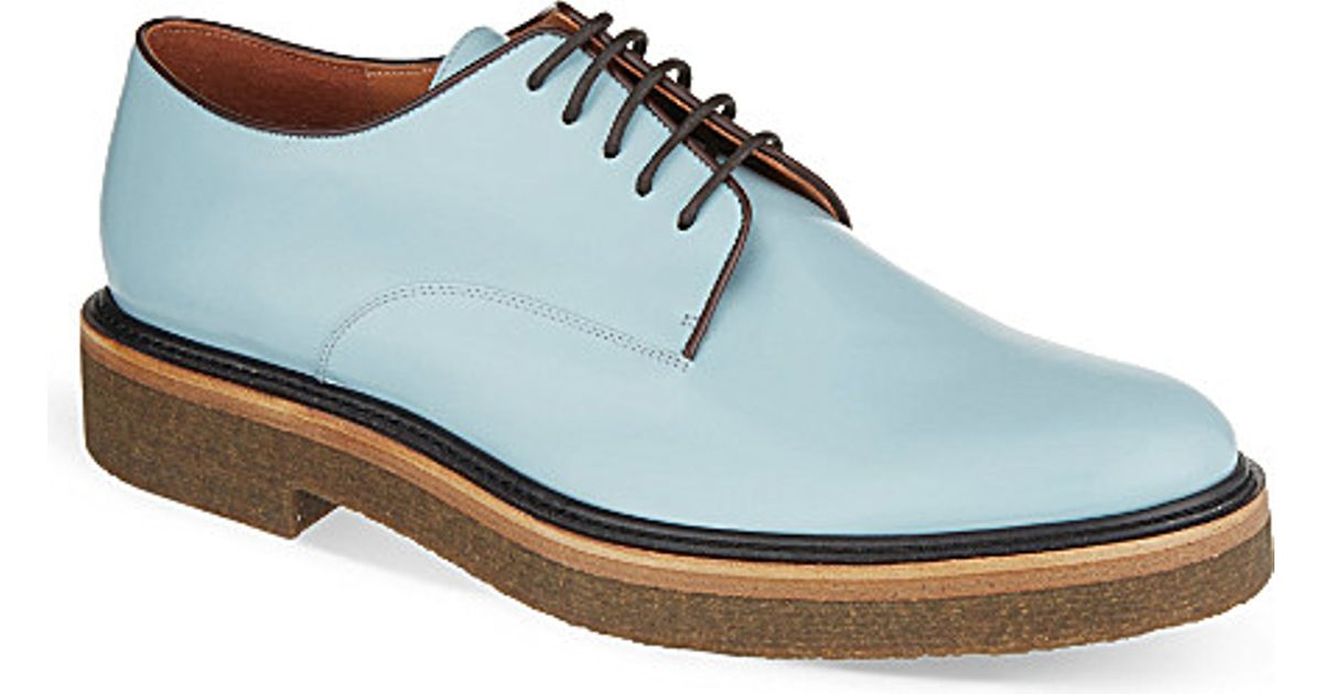 Dries Van Noten Lace-Up Crepe Shoes - For Women in Blue - Lyst ed49ba3ac