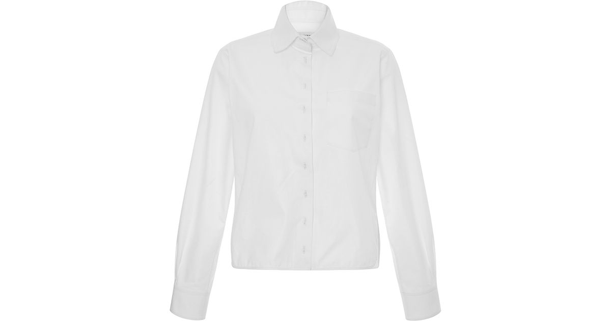 f31a064e Lyst - Carven Boxy Button-up Shirt in White