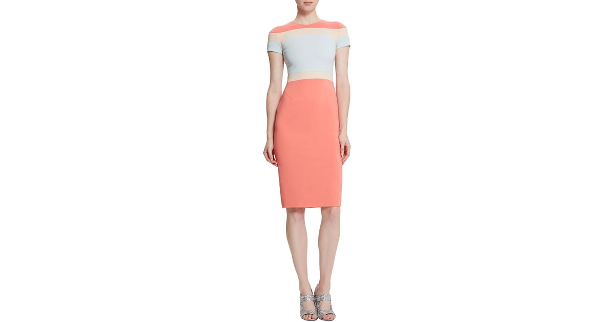9492d7fe Lyst - Raoul Trinity Colorblock Body-conscious Dress in Orange