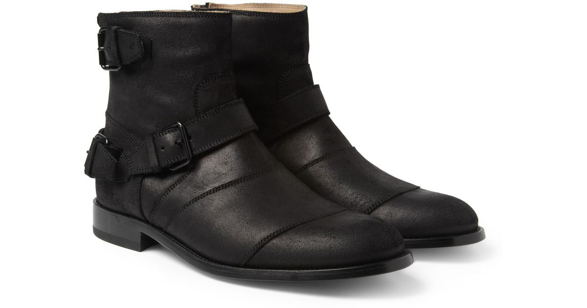 b39972f287e82 Lyst - Belstaff Trialmaster Oiledsuede Boots in Black for Men