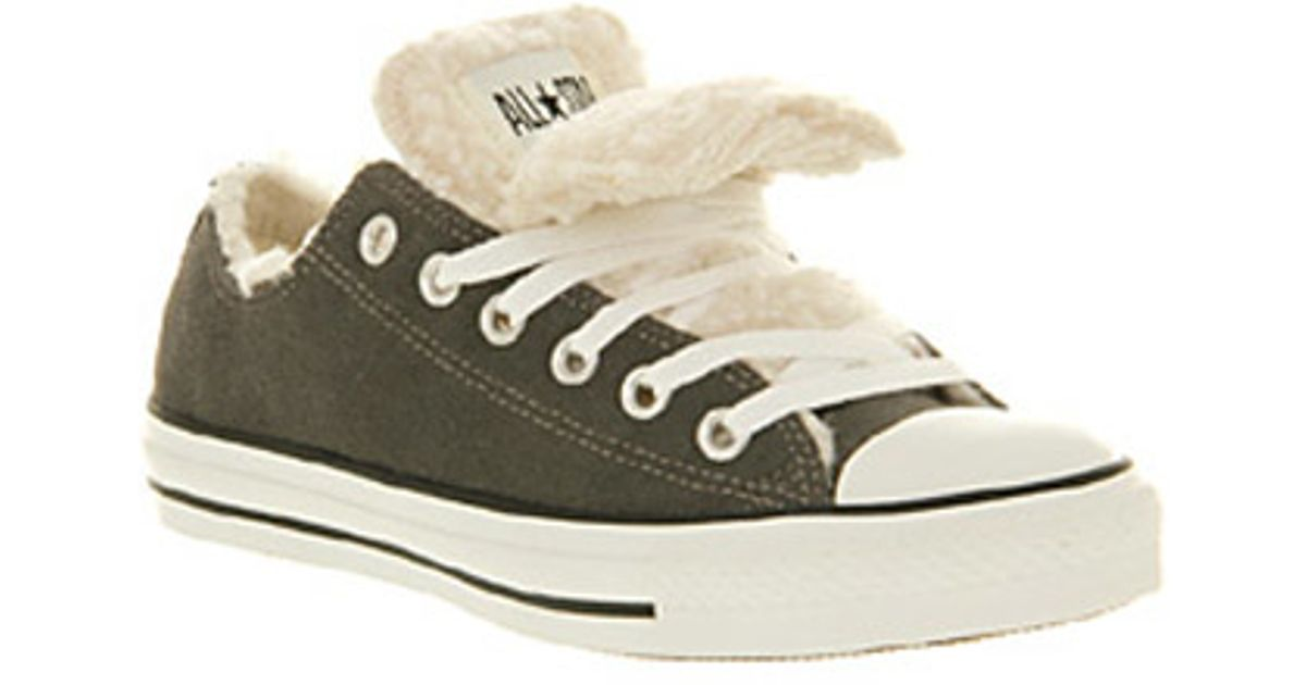 fbe07c48a122 Converse Allstar Low Double Tongue in Gray for Men - Lyst