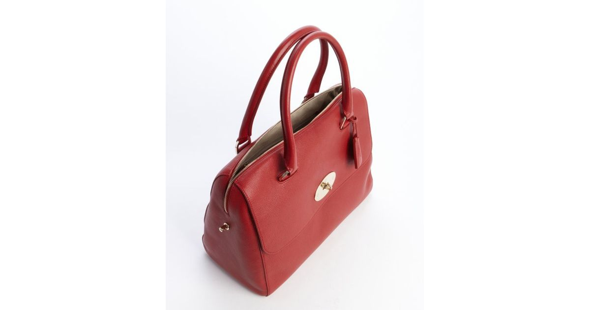 ... get lyst mulberry poppy red leather del ray top handle satchel in red  9f192 122ce 5038ab1c63c9e